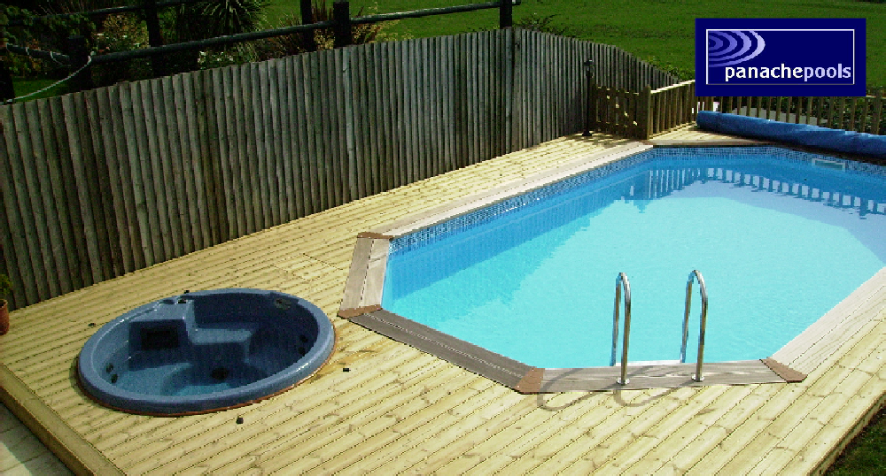 wooden pool for the garden